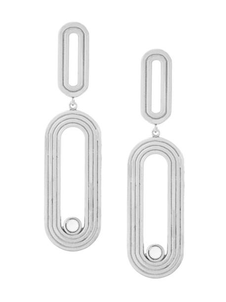 Charlotte Valkeniers women earrings silver grey metallic jewels