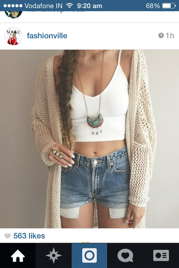 jewels necklace cardigan