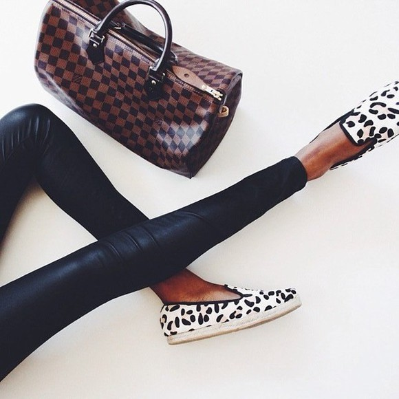 shoes white leopard print
