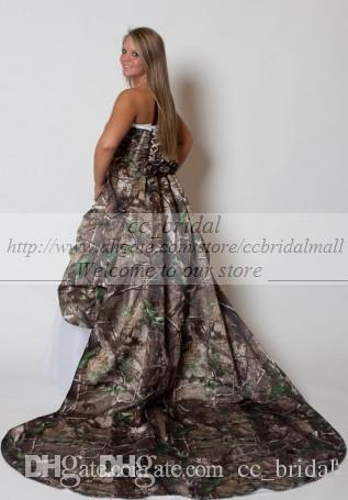 Short Wedding Dresses Custom Made Camo Wedding Dresses ...