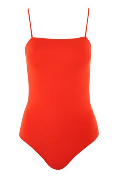 Topshop bodysuit red underwear