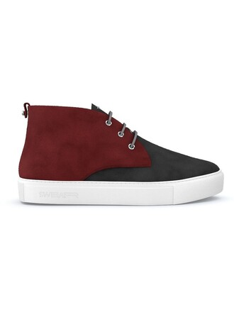 women sneakers leather suede red shoes