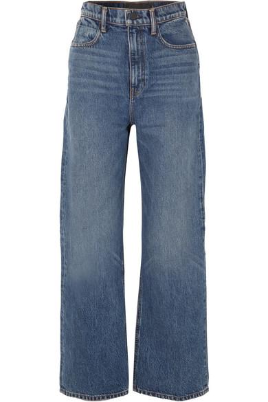 b1abb5abea96dd Alexander Wang - Crush high-rise wide-leg jeans