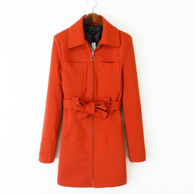 Twin Pockets Red Coat