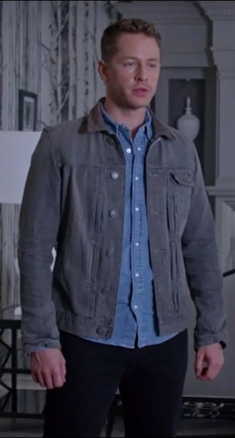 jacket david nolan josh dallas once upon a time show grey denim mens denim jacket