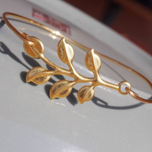 Handmade bracelet gold bangle, branch leaf bracelet, 16G wire bracelet as gift for her, Best Jewelry online buy | Handmade Bracelets Wholesale, Friendship Bracelets, Custom Leather Rope Bracelets,Craft Supplies Wholesale