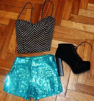 pants sequins glitter blue shiny pretty glamour shirt