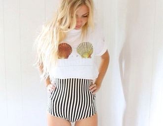 shirt seashell tee t-shirt shell sea creatures