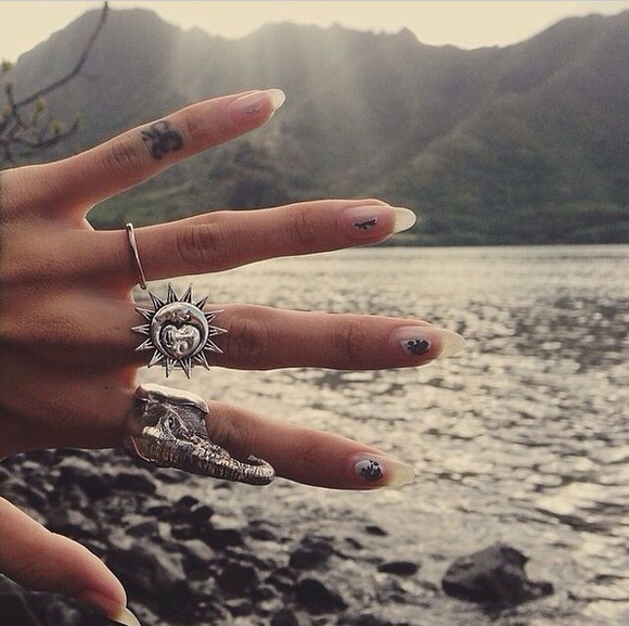 jewels ring sun grunge jewelry moon magik