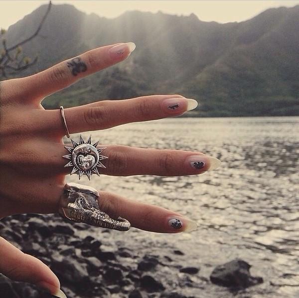 jewels sun ring grunge jewelry moon magik