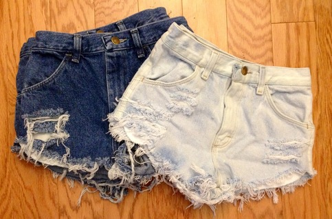 Plain Distressed High Waisted Shorts | Online Store Powered by ...