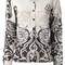 Etro spiral floral print cardigan, women's, size: 40, nude/neutrals, cashmere/wool