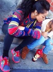 sweater,multi color,multicolor,multicolored shirt,vintage sweater,vintage,long sleeve sweater,scoop neckline,scoopneck
