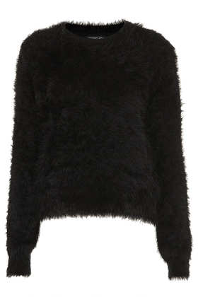 Knitted Fluffy Crew Jumper - Topshop