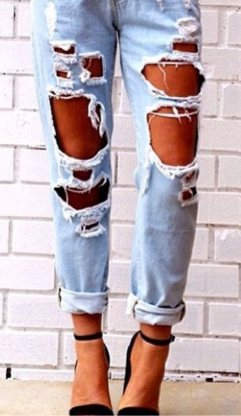 The Tuulla Ripped Boyfriend Jeans (2 colors available) – Glamzelle