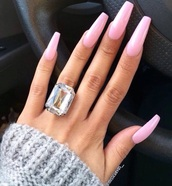jewels,diamonds,ring,nails,pink,fashion,style