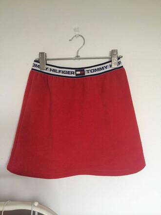 skirt tommy hilfiger red skirt