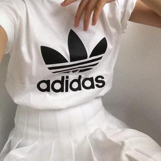 t-shirt skirt white adidas shirt adidas