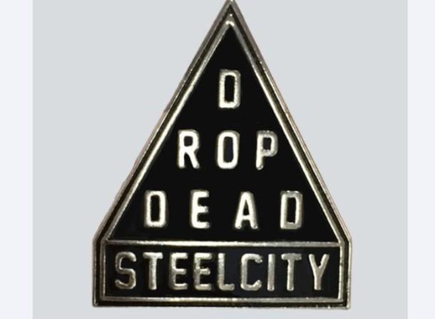hair accessory steel city pin enamel pin enamel drop dead clothing drop dead clothing