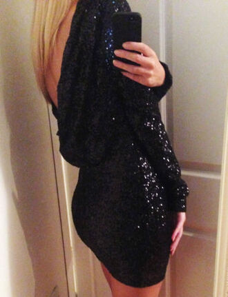 backless prom dress dress backless dress robe sequins dress sequins sexy dress long sleeve dress