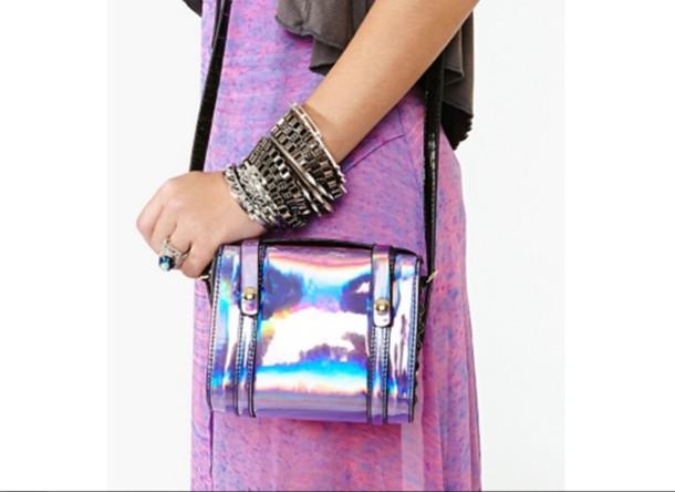 bag holographic holo holographic holographic purse skirt