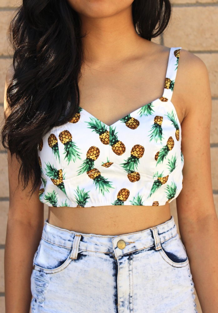 Pineapple crop top
