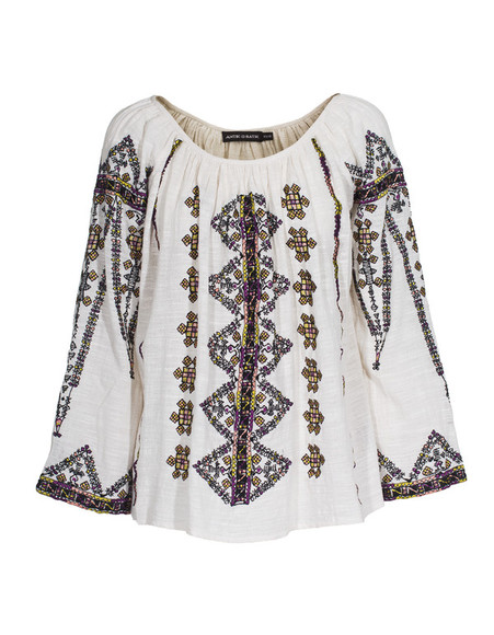 shirt white tunic antik batik tolata off-white embroidered cotton tunic antik batik cotton tunic embroidered ukrainian motive ukraine