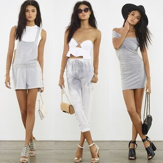 dress isla & lulu wrap dress grey off the shoulder revolve clothing revolveme revolve