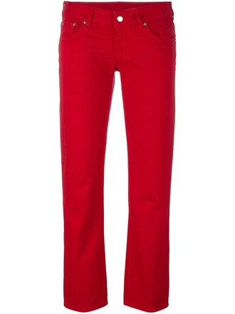 jeans cropped jeans cropped red