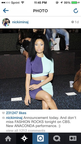 color block two-tone nicki minaj alexander wang