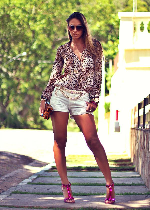 decor e salto alto shorts bag jewels