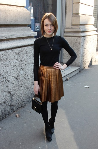 skirt gold skirt metallic gold metallic pleated pleated skirt metallic skirt copper metallic pleated skirt