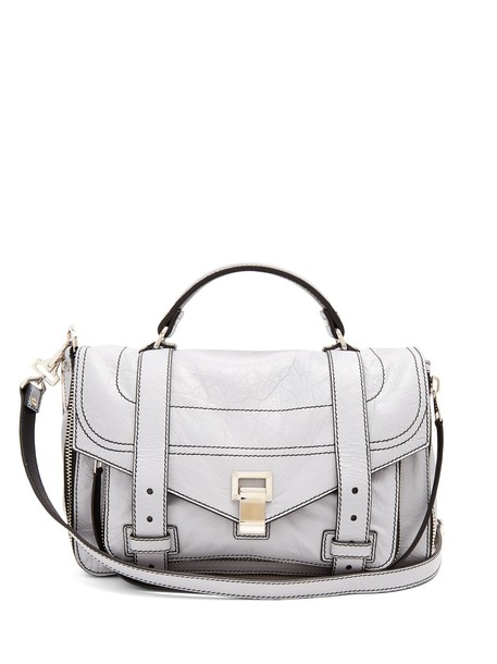 Proenza Schouler bag shoulder bag leather light grey