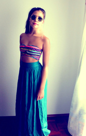 skirt,clothes,bandeau,high waisted skirt,beach,forever 21,tank top,maxi skirt,top