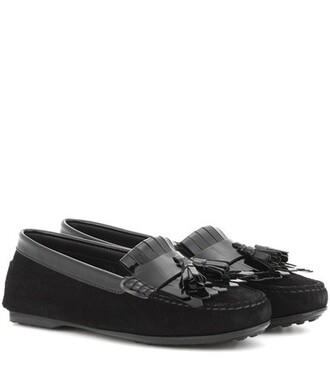 metallic loafers leather black shoes