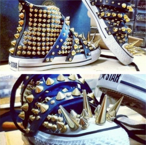 shoes studded converses studded converses converse spikes spiked shoes studs