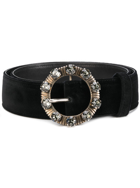 metal women embellished belt leather black velvet