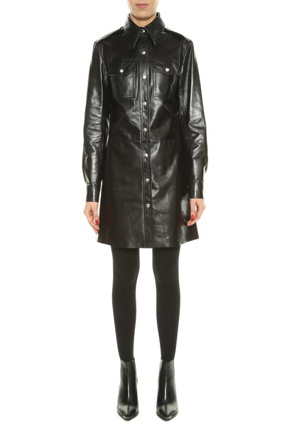Calvin Klein dress leather