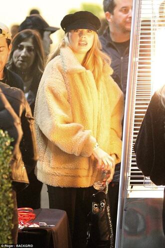 coat charlotte mckinney celebrity style streetstyle