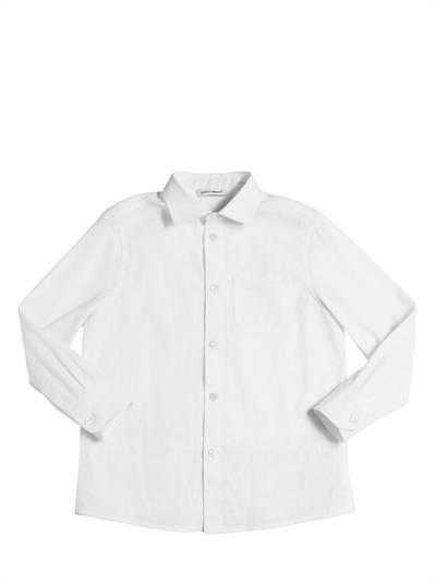 DOLCE & GABBANA Jersey & Cotton Poplin Shirt White