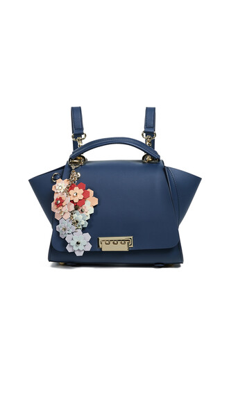 soft backpack blue bag