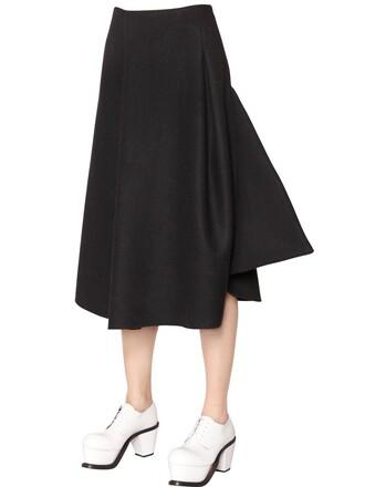 skirt high wool black