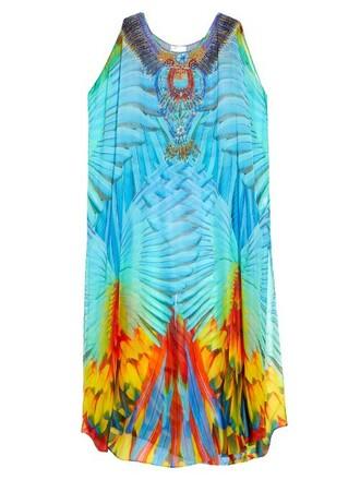 maxi print blue top