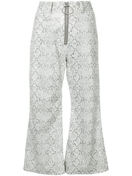 G.V.G.V. flare women cotton grey pants