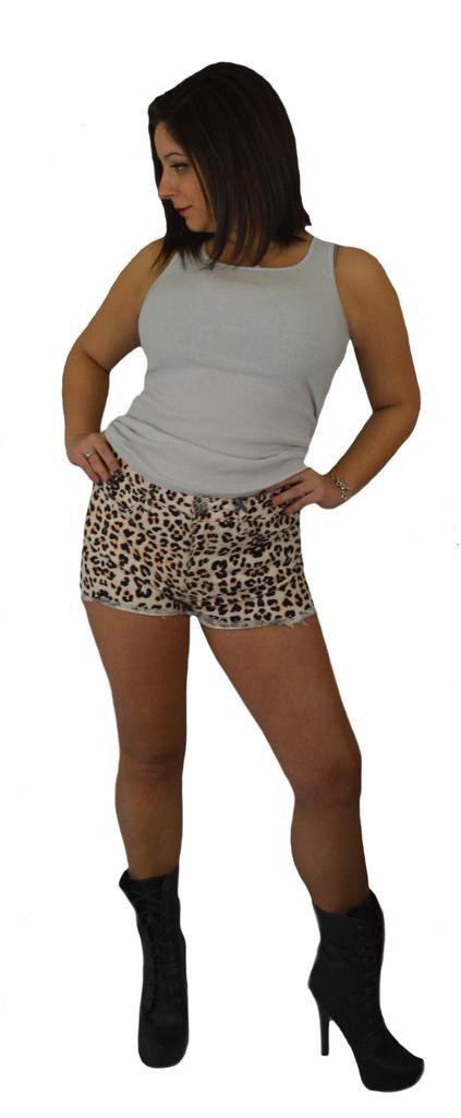 Cheetah high rise shorts