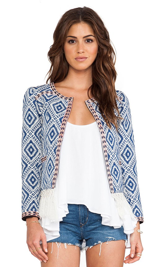 Tularosa santa fe fringe jacket in multi from revolveclothing.com