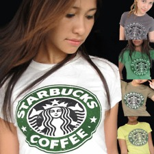 ♥ STARBUCKS COFFEE Vintage T-Shirt XS, S, M, L ToP Various Colours , Vari Colori | eBay