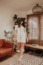 the mop top,blogger,romper,dress,shoes