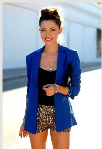 jacket royal blue blazer