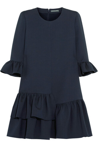 dress mini dress mini blue wool